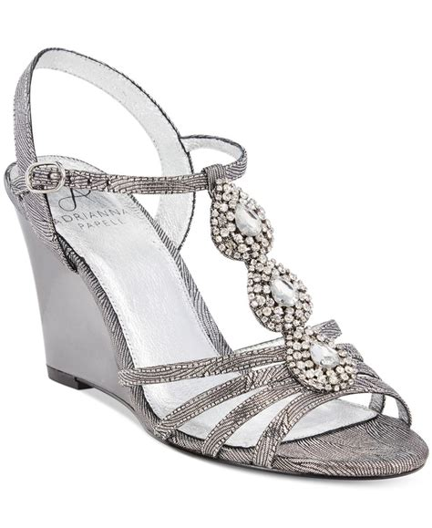 evening wedge sandals papell kristen evening wedge sandals in white lyst