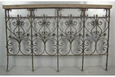 wrought iron headboard queen queen size wrought iron and zinc mounted headboard circa