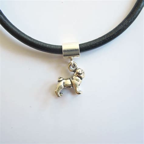 pug charm bracelet pug mini sterling silver european style charm and bracelet park publishing