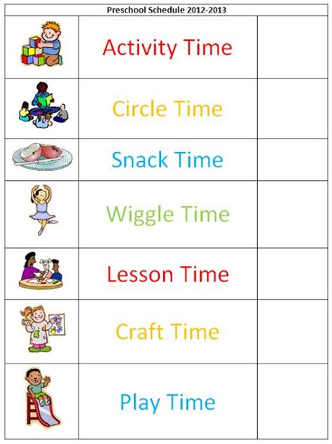 kindergarten timetable template pin free preschool daily schedule template re