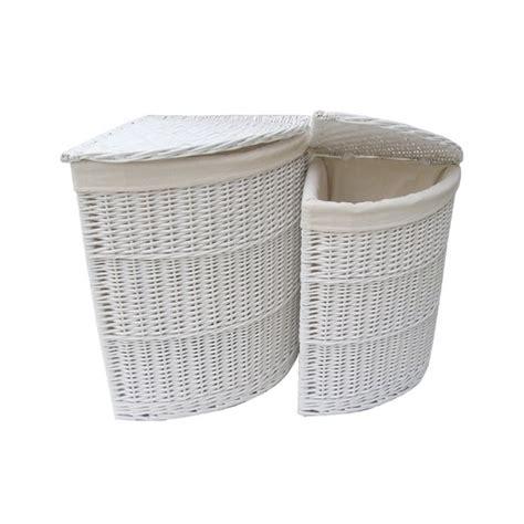 bathroom wicker storage baskets corner unit laundry basket set of 2 wicker willow storage