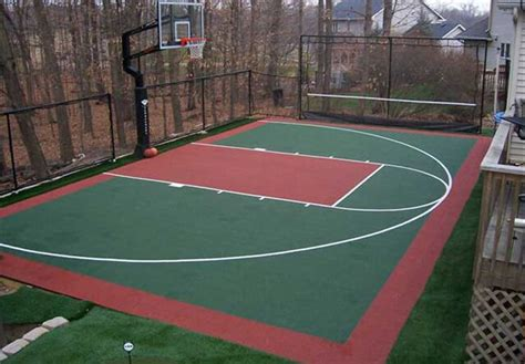 backyard basketball court size backyard basketball court ideas marceladick
