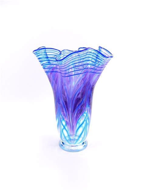 Large Blown Glass Vases by Large Blown Glass Vase Glass Vase Purple