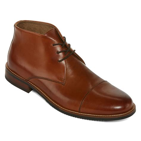 jc mens dress shoes stafford darrel mens dress boots jcpenney