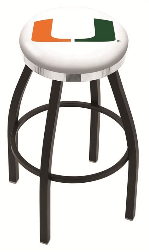Counter Stools Miami by Miami Fl Bar Stool W Official College Logo Family Leisure