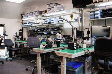 desk  shelves   equipment   electronics
