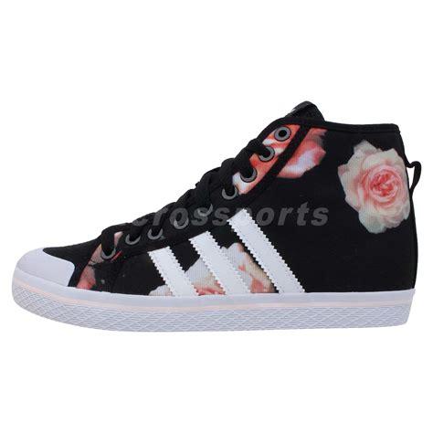 adidas originals honey stripes mid w black floral 2014 womens casual shoes