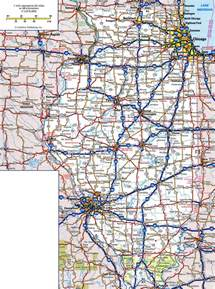 map of roads and highways large detailed roads and highways map of illinois state