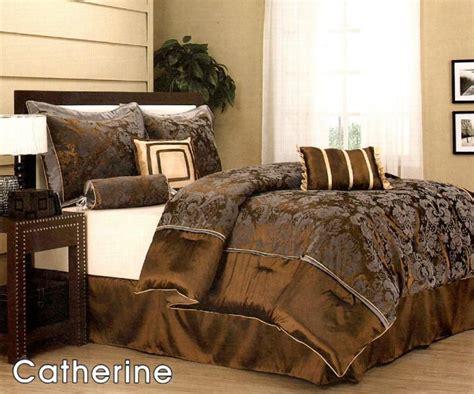 elegant queen comforter sets 7 pc elegant floral bed comforter set queen bronze grey ebay
