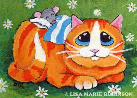Diskon Maries Orange Cat Acrylic 1414 besten cat bilder auf katzen kunst