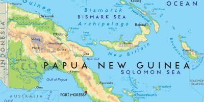 port moresby papua  guinea map map  port moresby