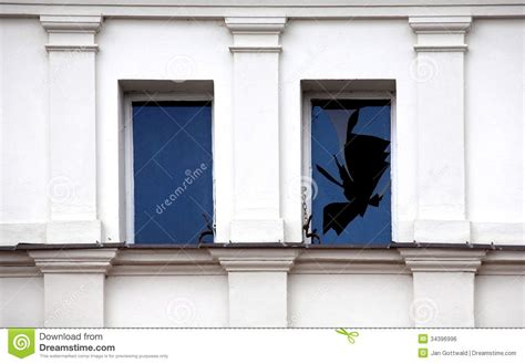 smashed house window broken window royalty free stock image image 34396996
