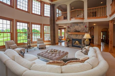 great room design ideas   stone fireplaces