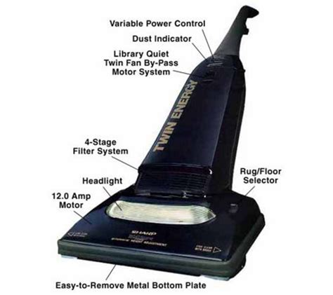Vacuum Cleaner Sharp Ec8304 sharp energy upright vacuum qvc