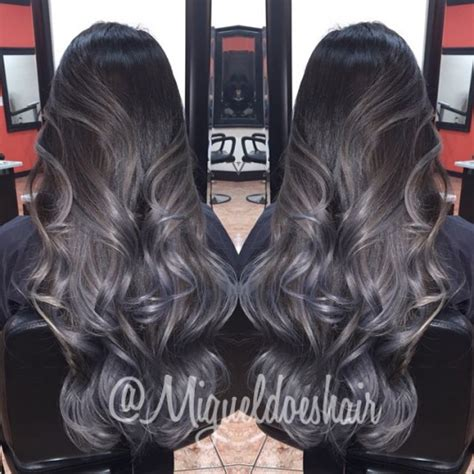 black hair with gray blue hair colors ideas thousands of ideas about grey brown hair on pinterest