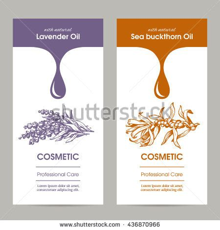 Vector Set Templates Packaging Cosmetic Label Stock Vector 436870966 Shutterstock Skin Care Label Templates