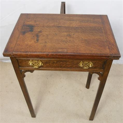 Small Card Table by Small Oak Foldover Card Table 253973 Sellingantiques Co Uk