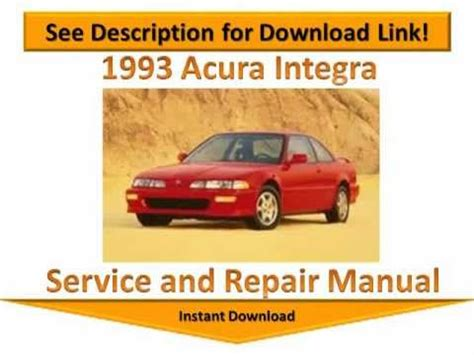 how to download repair manuals 1996 acura integra electronic toll collection 1993 acura integra repair manual youtube