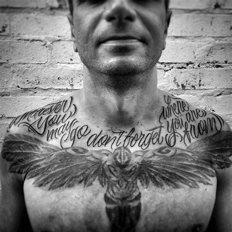 upper chest tattoo 90 script tattoos for cursive ink design ideas