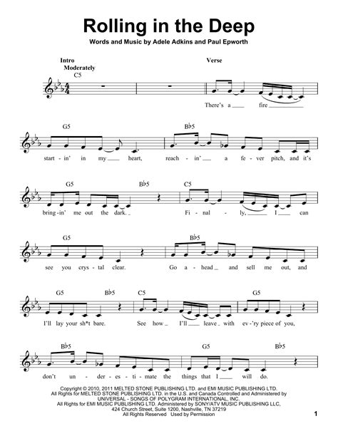 adele rolling in the deep piano music adele rolling in the deep sheet music