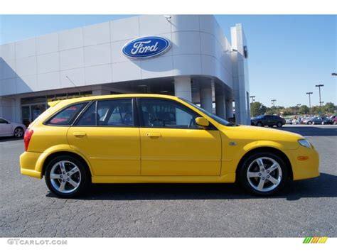2003 mazda protege wagon yellow 2003 mazda protege 5 wagon exterior photo