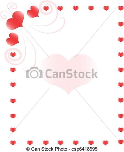 cornici cuori clipart vettoriali di cuore cornice fondo con cuori