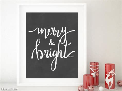 merry bright christmas printables for framing merry bright printable christmas decor in modern