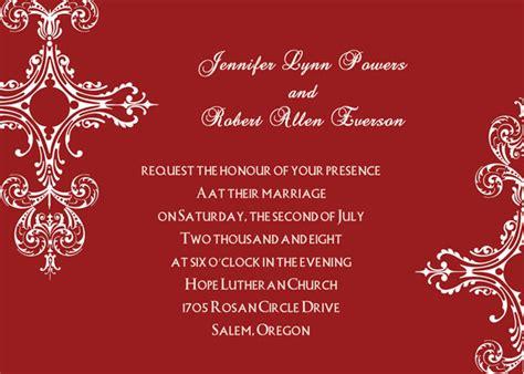 invitation card design red vintage red winter cheap wedding invitations online ewi214