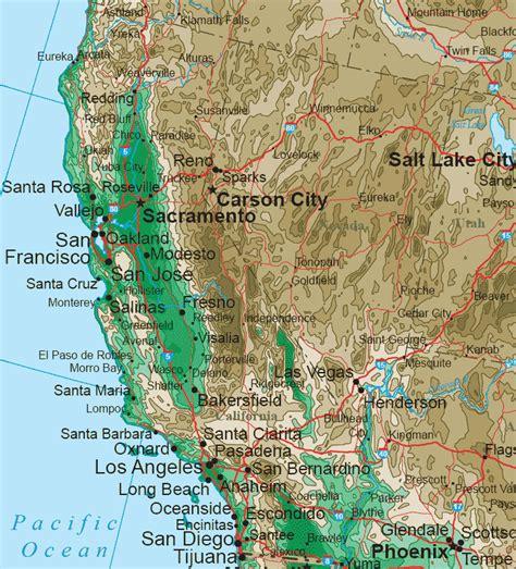 western usa map western united states