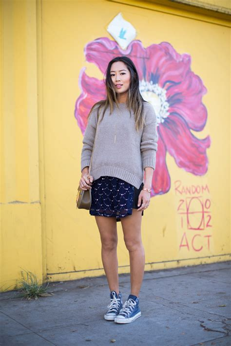 Sweater Converse Two By Syintashop one statement dress two ways song of style