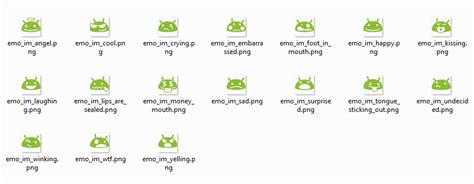 android emoticons list keyboard where can i find a list of the default