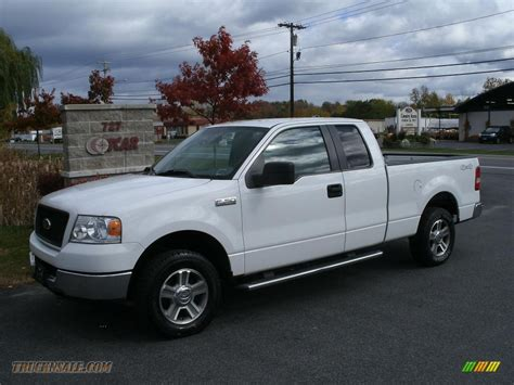 ford truck white 2005 ford f150 xlt supercab 4x4 in oxford white b66710