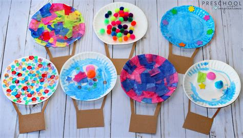 craft activities air balloon process activity preschool inspirations