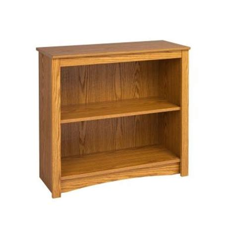2 shelf bookshelves prepac 2 shelf bookcase in oak odl 3229 the home depot