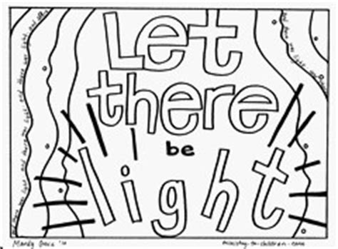Creation Coloring Pages Day 1 by The Book Storytime Creation God Made The World And
