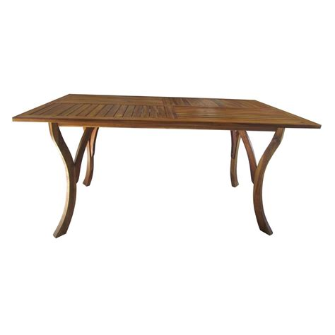 noble house teak rectangular wood outdoor dining table