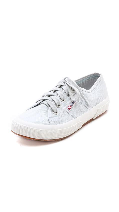 superga white sneakers superga cotu classic sneakers in white aluminum lyst