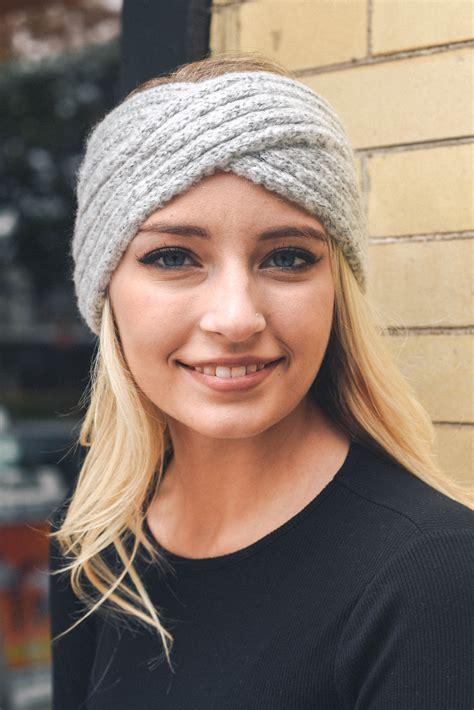 knit headband cross knit headband