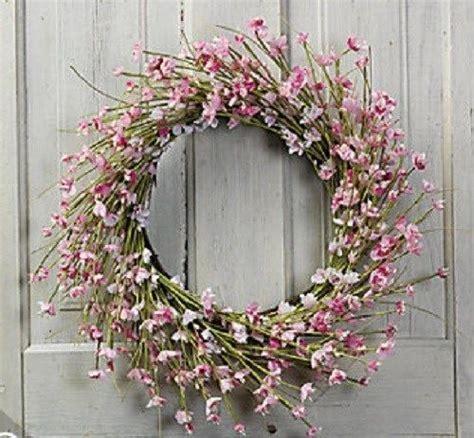 Vine Wreath Decorating Ideas by Cherry Blossom Grapevine Wreath Home Decor