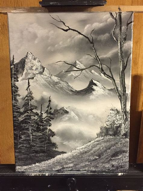 bob ross painting style bob ross style original landscape painting by