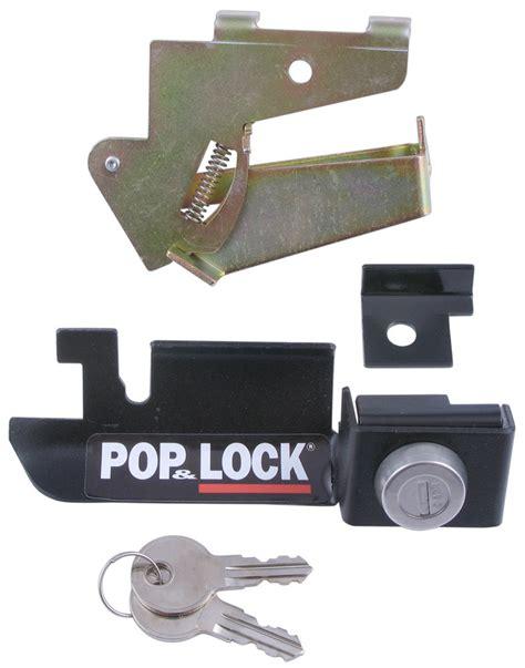 ford   pop lock custom tailgate lock  steel tailgate handle manual black