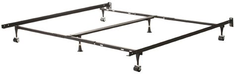 basic metal bed frame twin metal bed frame w locking rug roller wheels headboard