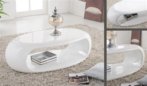 straas curved high gloss coffee table in white buy