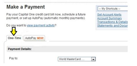 make a payment on my capital one credit card www capitalone autoloans login bill payment
