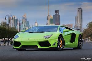 green kuwaiti lamborghini aventador with pur wheels gtspirit