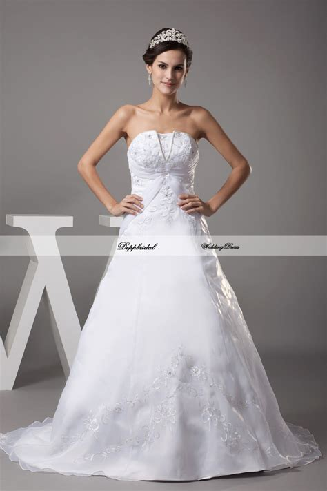 wholesale wedding dress a line embroidery beading