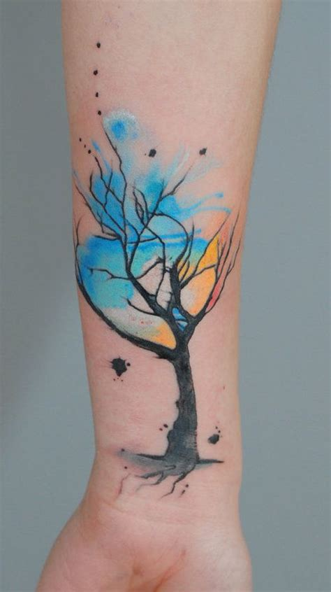 watercolor tree tattoo sleeve best 25 tree sleeves ideas on forest
