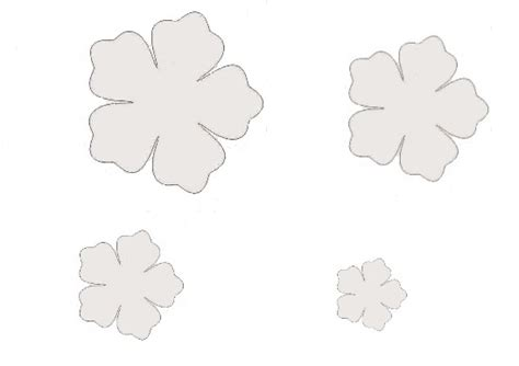 sagome di fiori sagome di fiori e foglie per decorare creaconlacarta