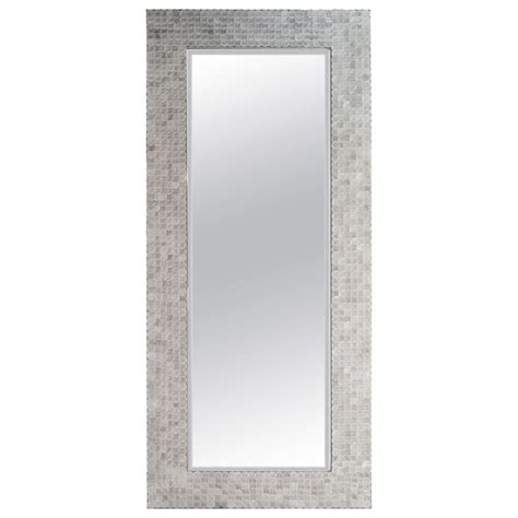 modern length wall mirror modern rectangular length mirror with suede frame