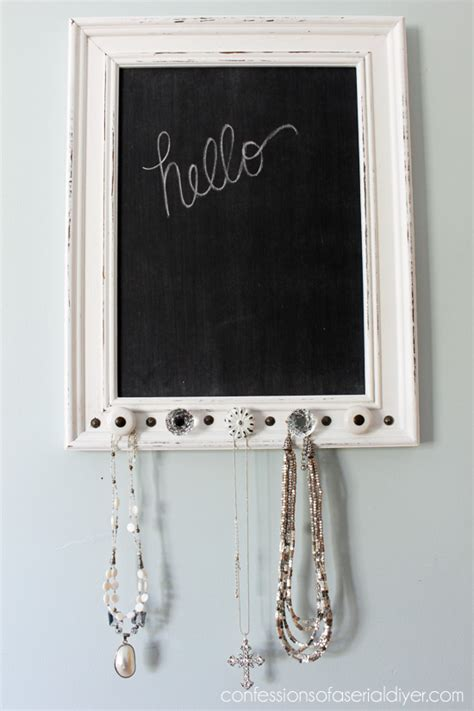 diy chalkboard necklace jewelry holder chalk board confessions of a serial do